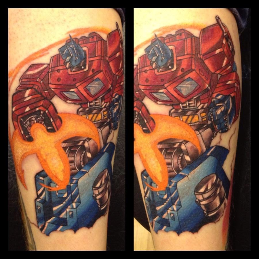 Optimus prime tattoo gen 1 by danetattoo on deviantart for Generation 8 tattoo