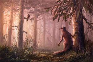 The Fox and the Crow by arisuonpaa