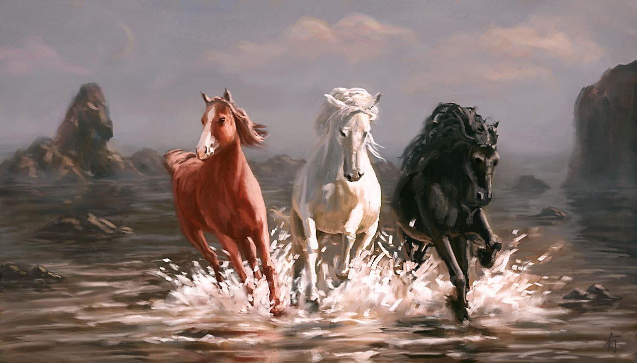 Three Friends by arisuonpaa