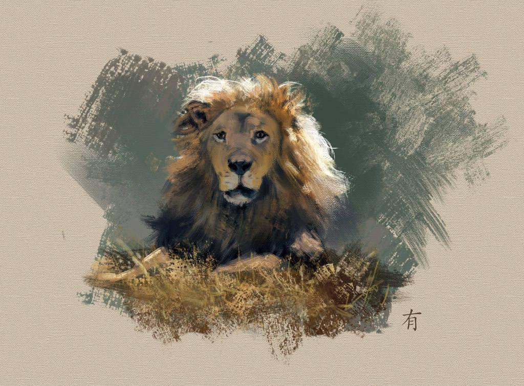 Lion by arisuonpaa