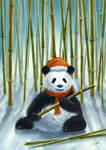 Christmas Panda by arisuonpaa