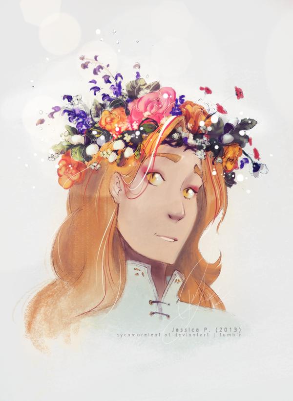 Flower crown sauron by sycamoreleaf