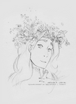 Flower Crown Sauron [sketch] by sycamoreleaf