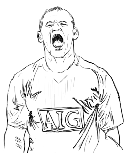 Manchester United Free Colouring Pages