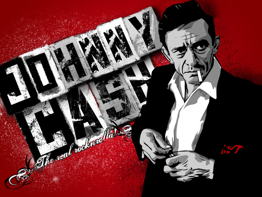 Johnny Cash Vector Johnny Cash by Bokula