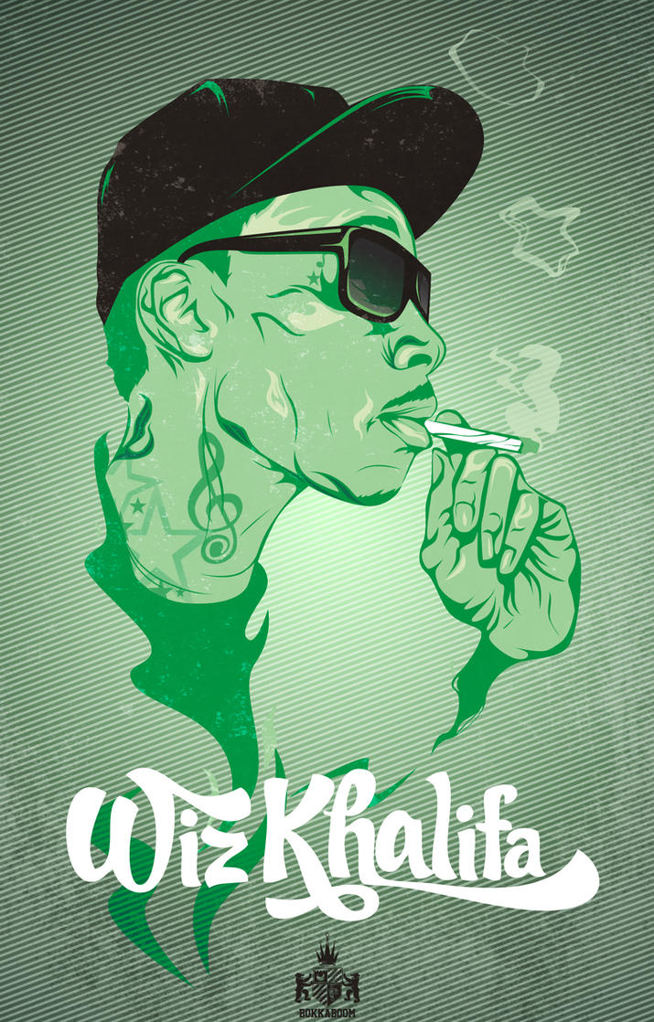 Wiz Khalifa up in smoke by Bokula on DeviantArt