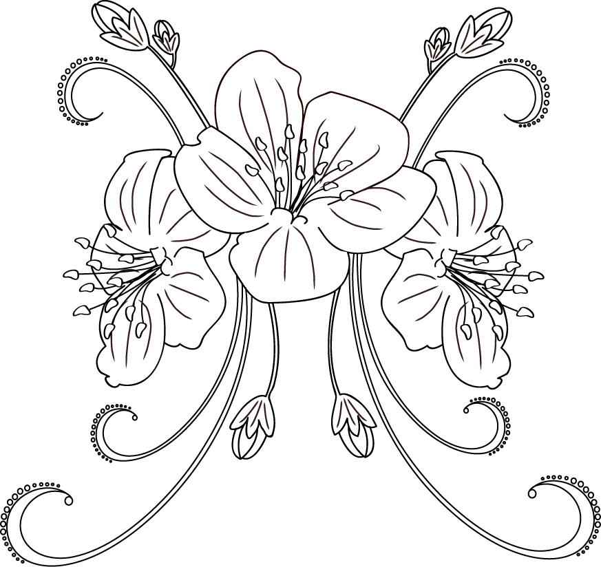 Cherry Blossom Flower Stencil: Cherry Blossom Tattoo... By Milli-jane On DeviantArt