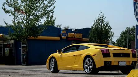 Lambo in Yellow