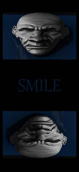 Angry but Smile Smartphone Wallpaper