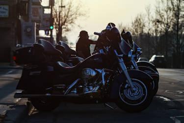 Harley's at Sunset