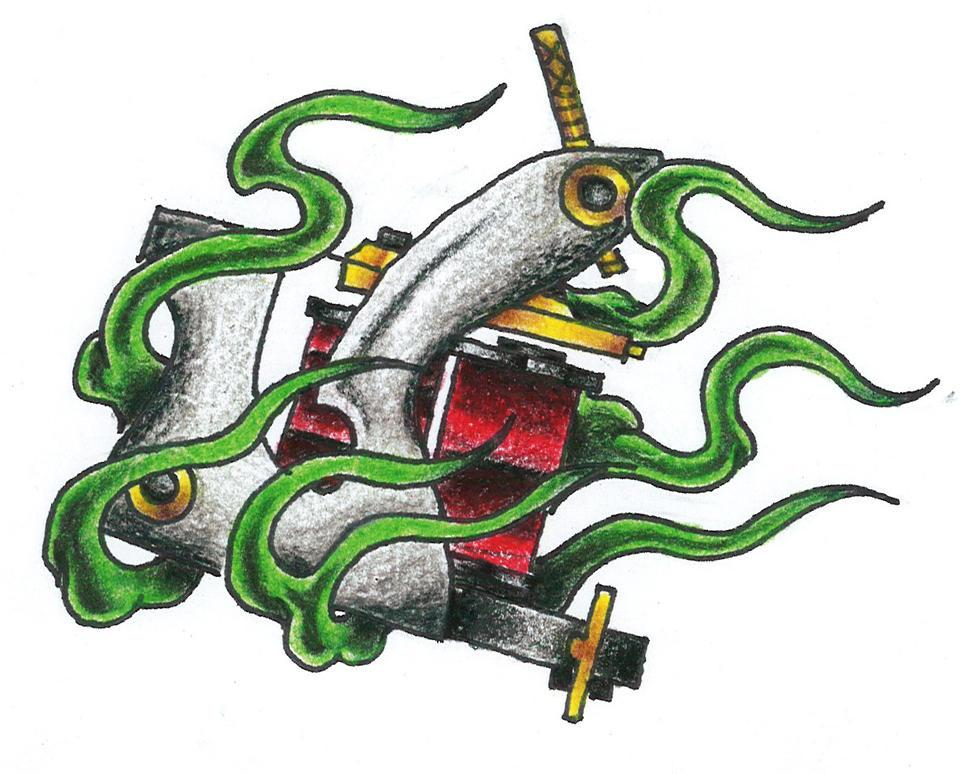 Tattoo Machine Line Drawing : Tattoo machine by ryanschipper on deviantart