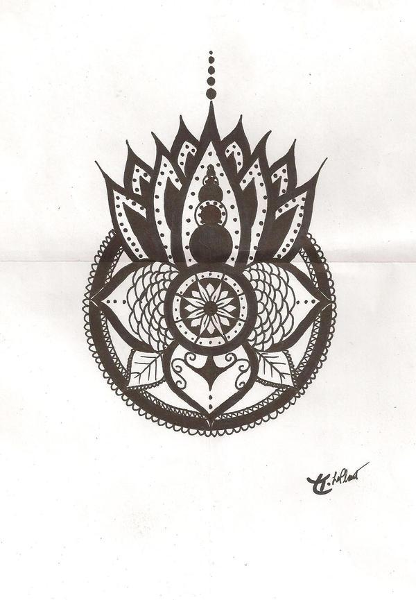 Mehndi Lotus Designs : Mehndi lotus by stormofthorns on deviantart