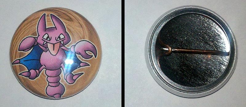 Gligar Pinback Button by InfinityFangX
