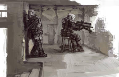 Sniper in the Ruins by Shimmering-Sword