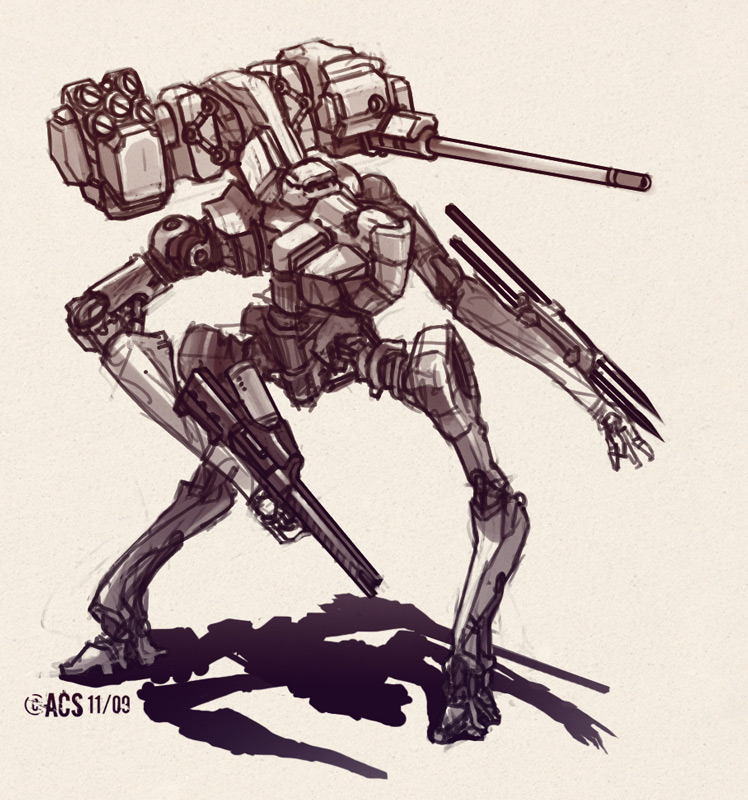 Urban Light Mech by Shimmering-Sword