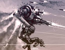 Mech Warrior - Uziel by Shimmering-Sword