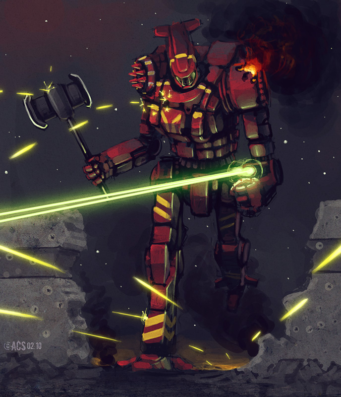Mech Warrior - Axeman by Shimmering-Sword