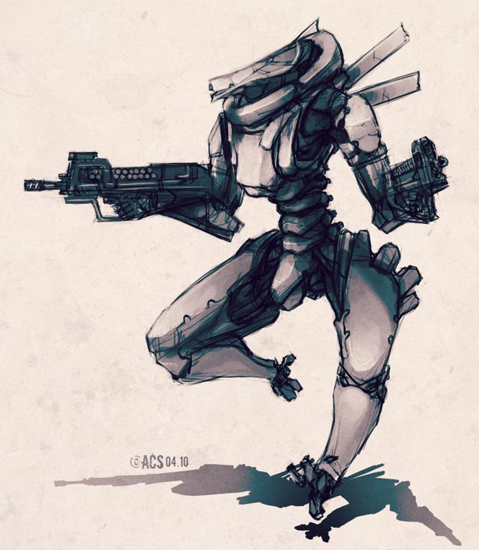Bio Mech Assault by Shimmering-Sword