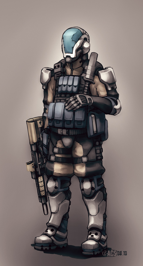 Contact - Grunt Soldier by Shimmering-Sword