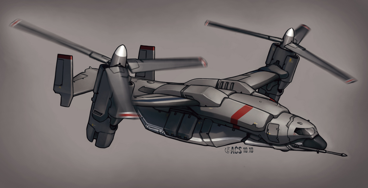 Contact - Air Truck VTOL by Shimmering-Sword
