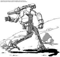 Battletech - Jackal by Shimmering-Sword