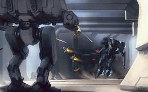 Duelers Battle by Shimmering-Sword