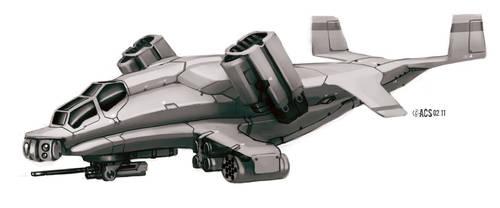 Transport Gunship by Shimmering-Sword