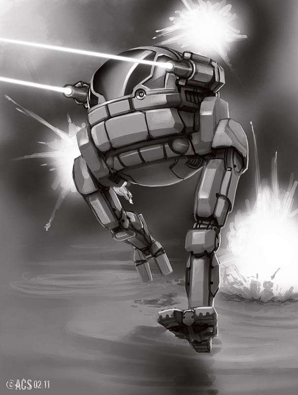Mech Warrior - Hornet by Shimmering-Sword