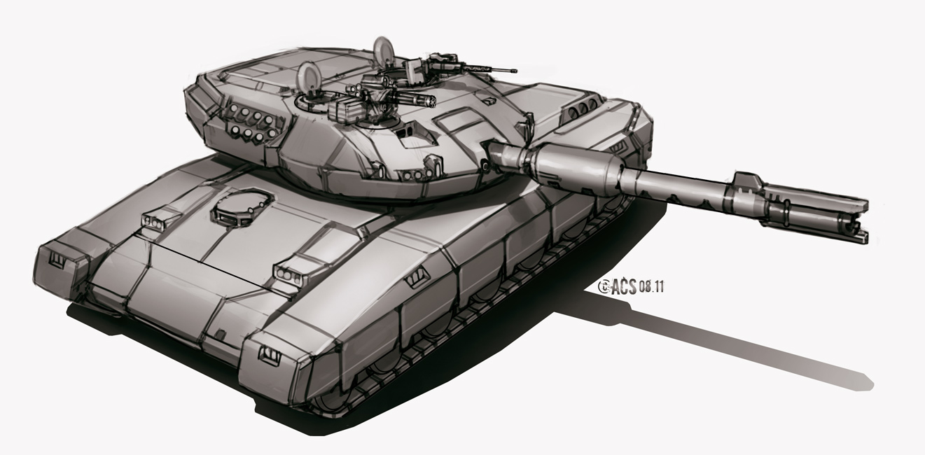 Commission - Main Battle Tank by Shimmering-Sword