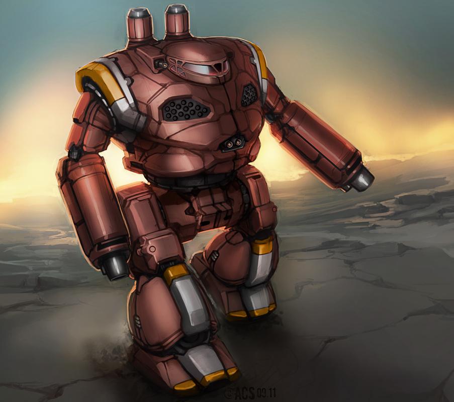 Mech Warrior - Grand Crusader by Shimmering-Sword