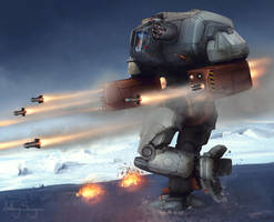 Battletech - Arcarius Heavy Mech by Shimmering-Sword