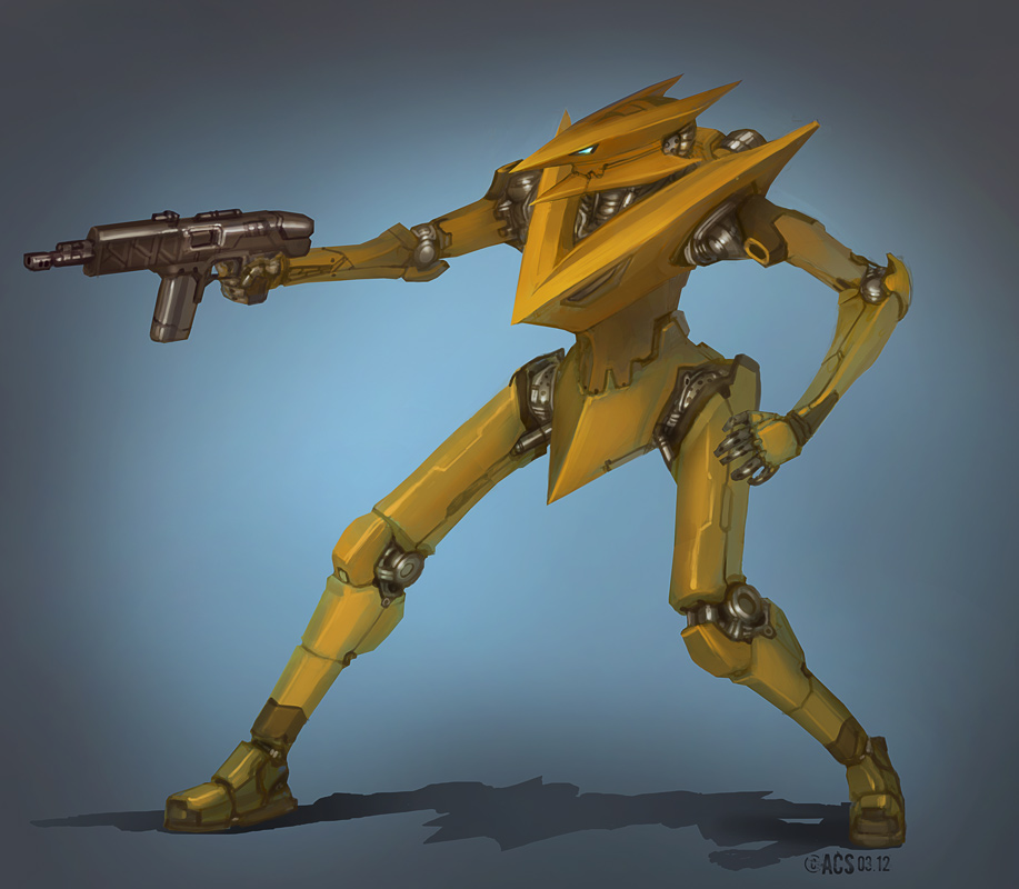 Gold mech. by Shimmering-Sword