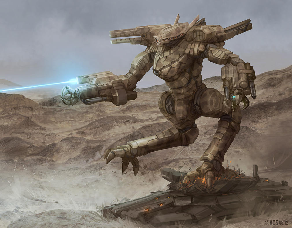 Commission - Fast Attack Mech by Shimmering-Sword