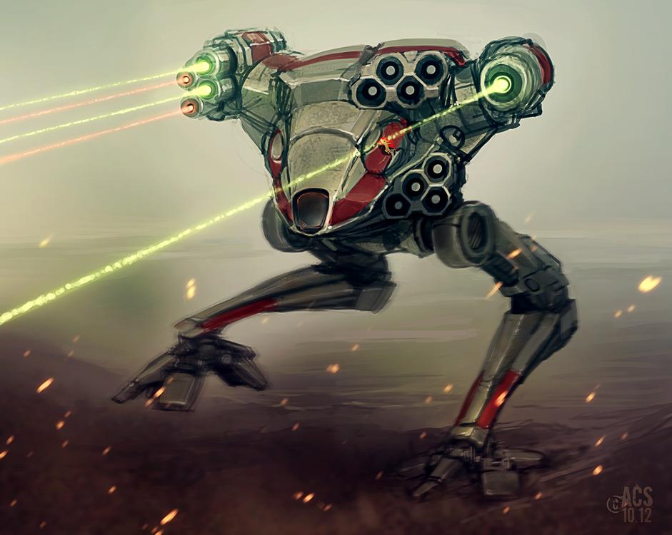 Battletech - Fire Falcon by Shimmering-Sword