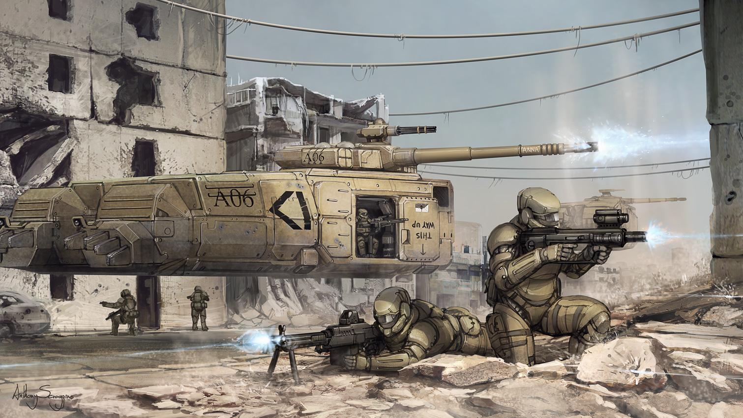 Commission - Grav Tank Deployment by Shimmering-Sword