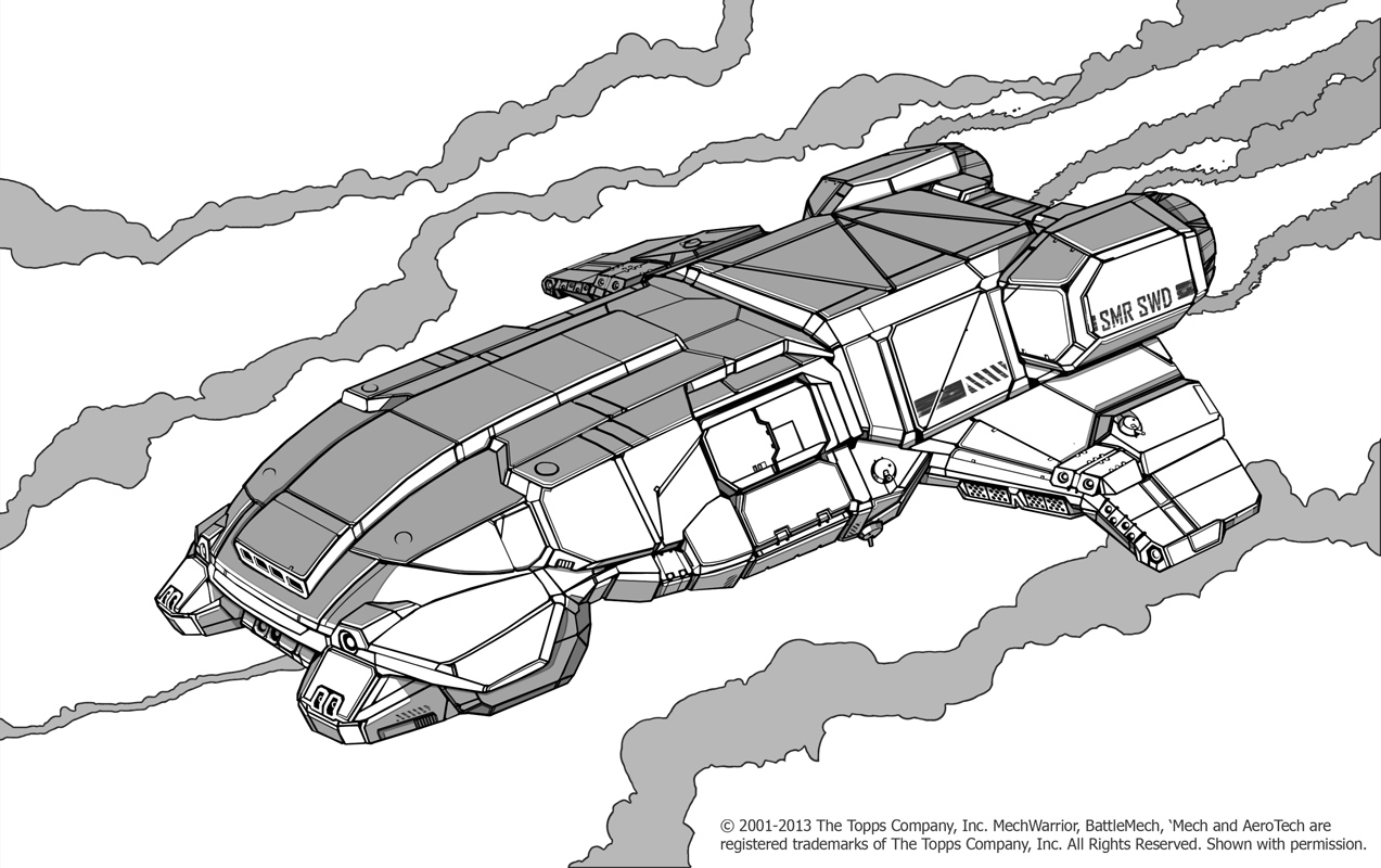 Battletech - Seleucus Dropship by Shimmering-Sword