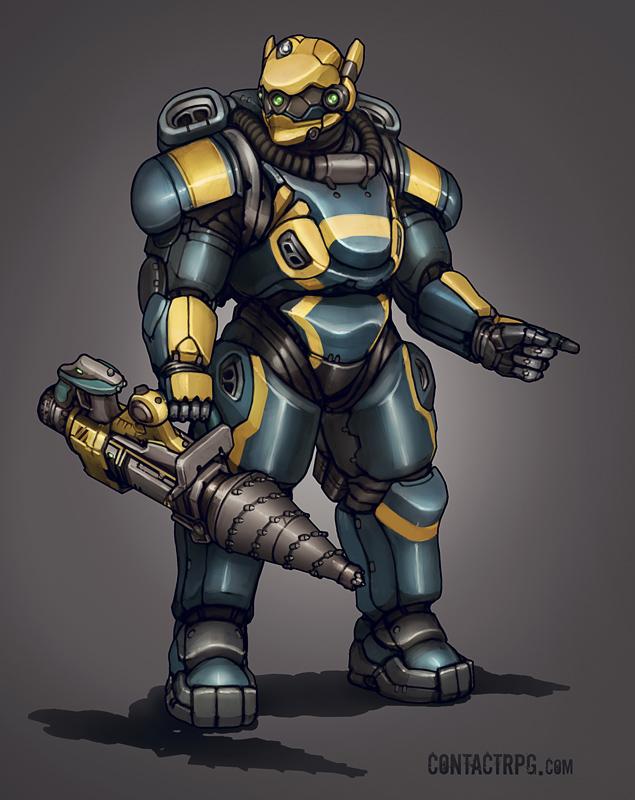 Contact - Aqua Power Armor by Shimmering-Sword