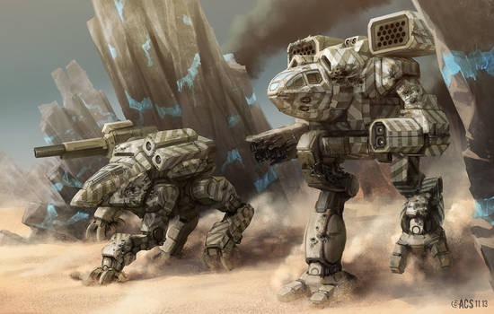 Battletech - Raiding Jaegers by Shimmering-Sword