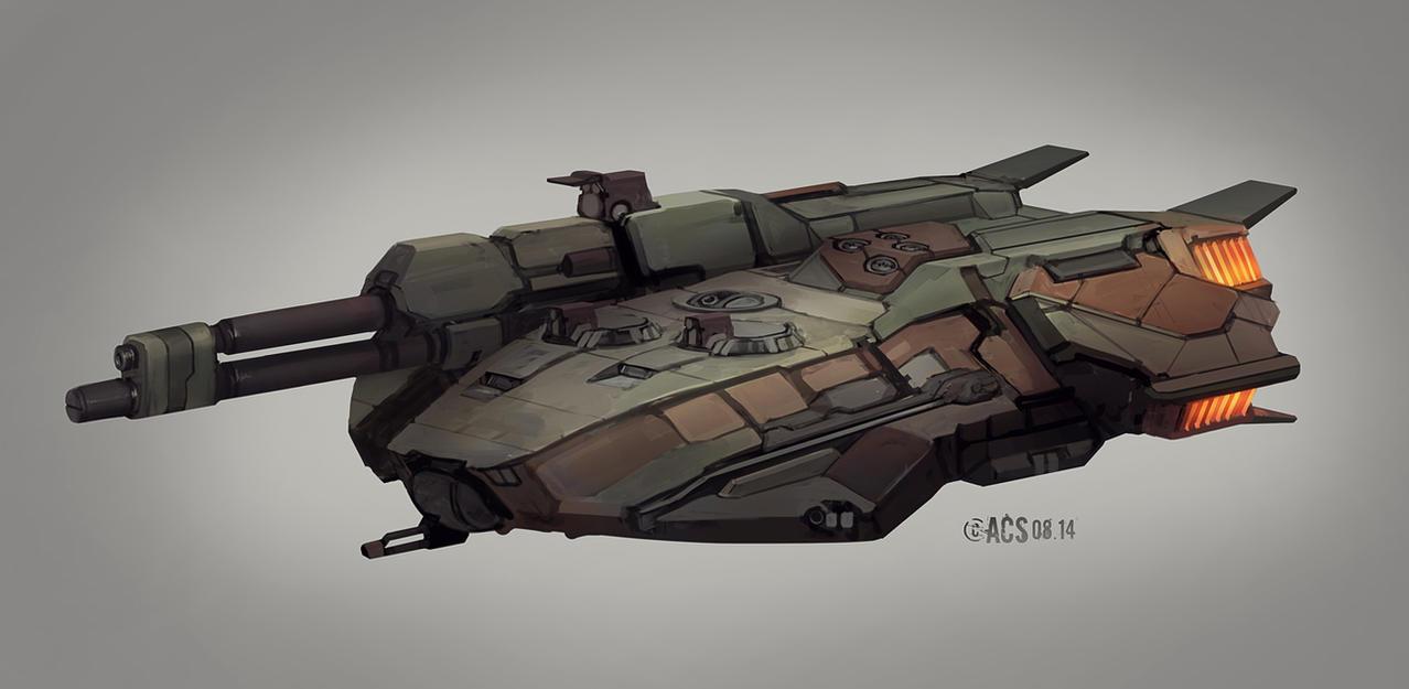 Commission - Klingon Tank Destroyer by Shimmering-Sword