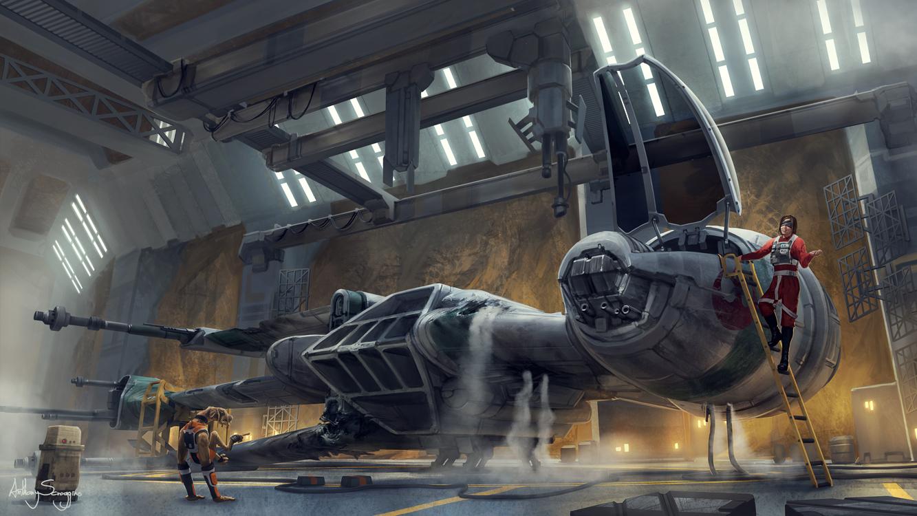 Commission - Star Wars B-wing