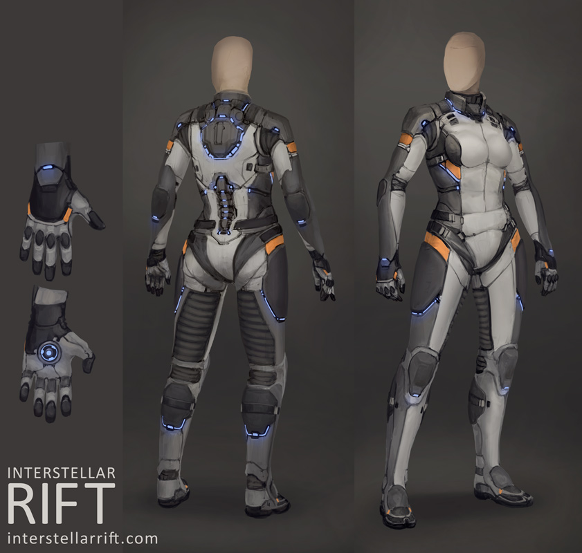 Interstellar rift undersuit by shimmering sword on for Female space suit