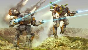 Battletech - Mountainside Assault by Shimmering-Sword