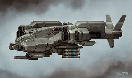 Commission - Predator Gunship by Shimmering-Sword