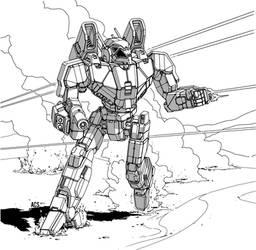 Battletech - Phoenix Hawk by Shimmering-Sword