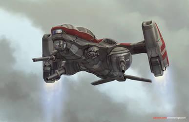 Prostor VTOL Gunship by Shimmering-Sword