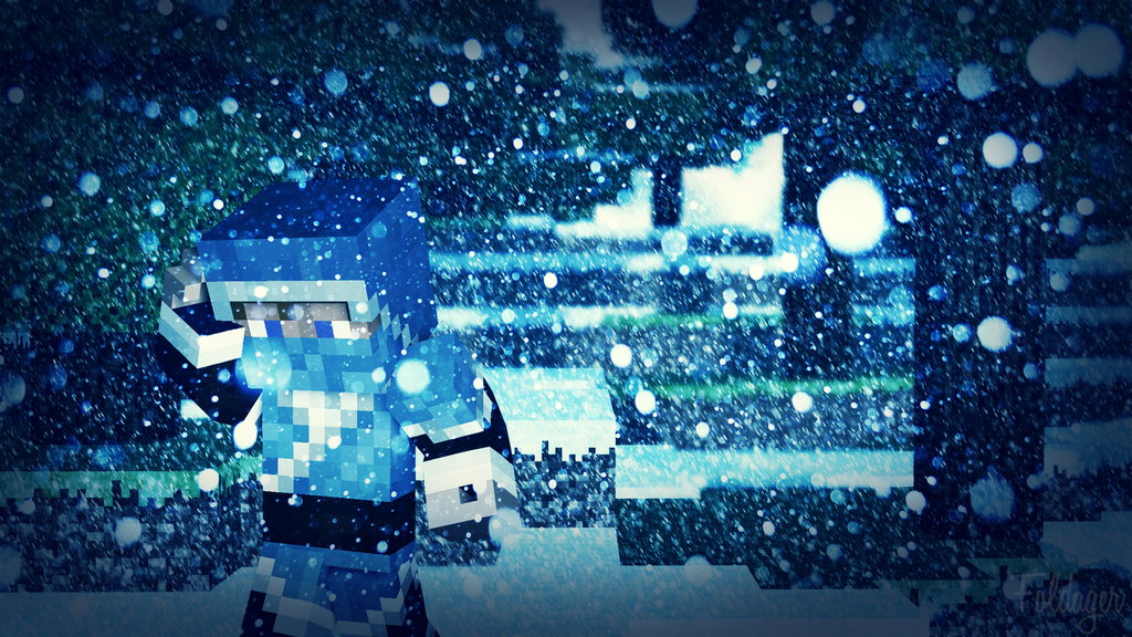 Snowy Day Minecraft Wallpaper 1920x1080 By TheFoldager