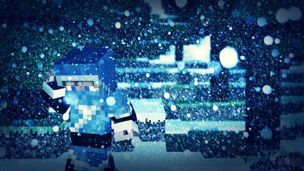 Snowy Day Minecraft Wallpaper 1920x1080 By Thefoldager On Deviantart