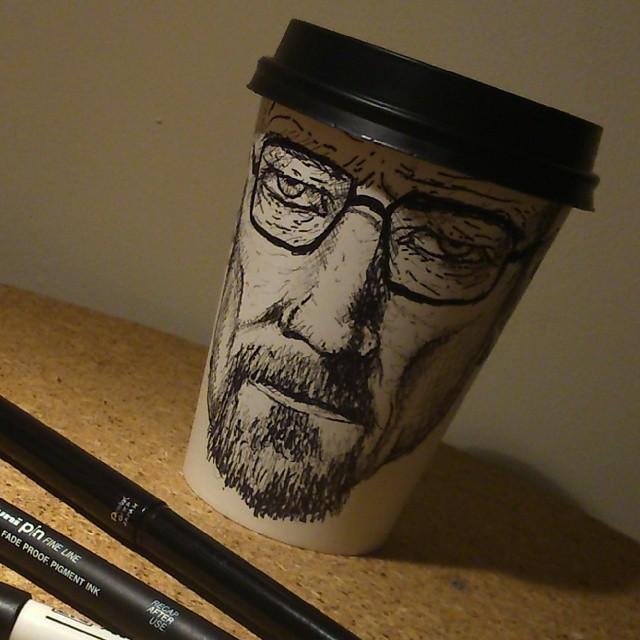 Breaking Bad Heisenberg Coffee Sketch By ...