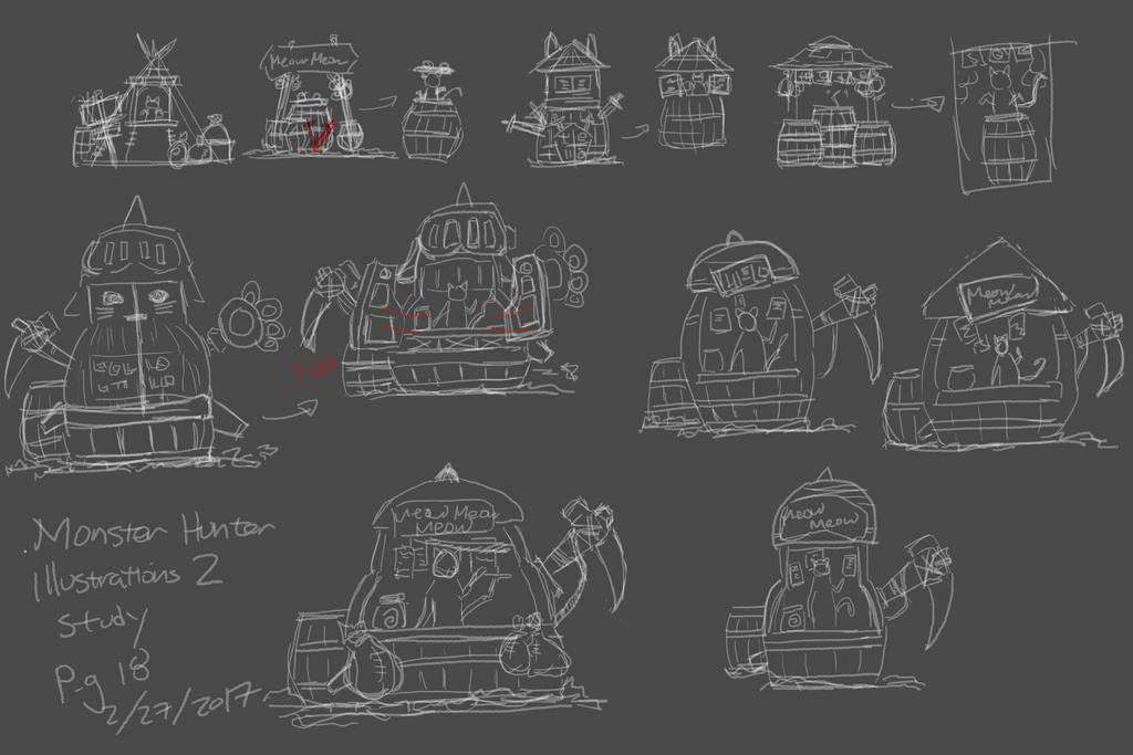 02272017 Monster Hunter Illustrations 2 Study by gooolgi