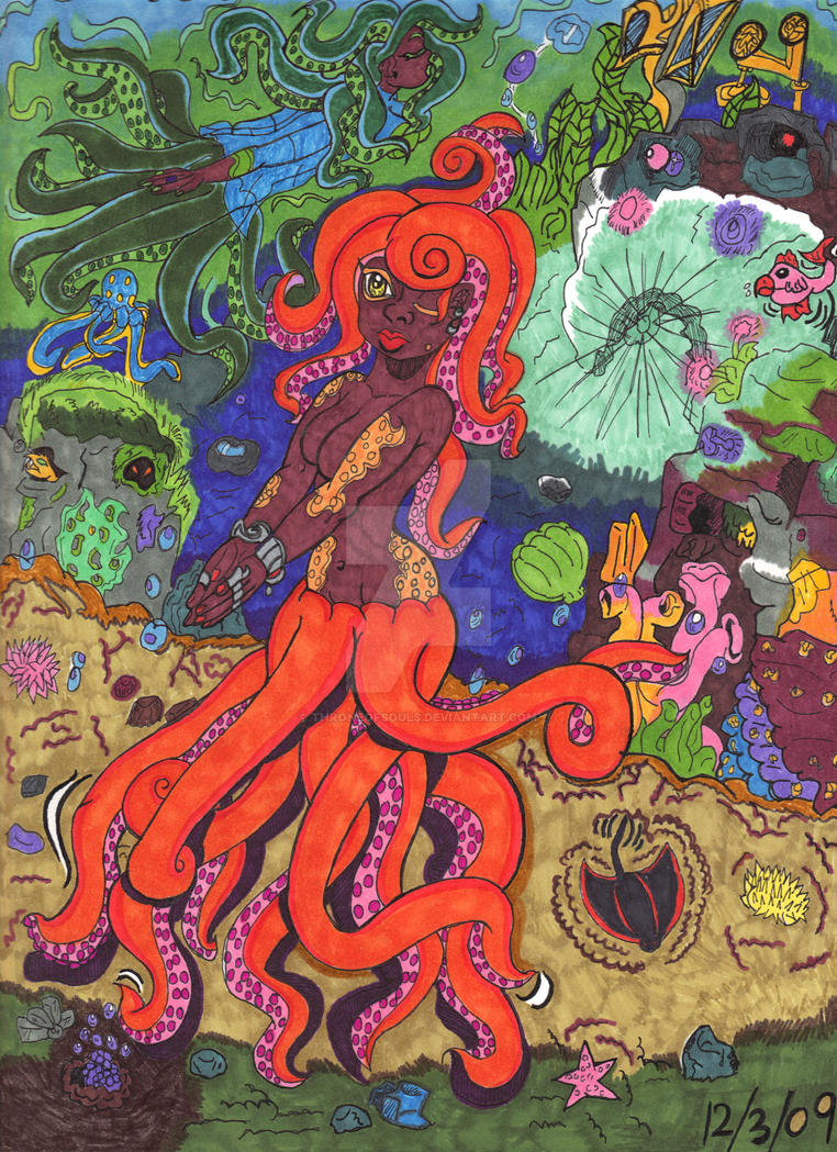 Octopus Woman C.M.Version by Throneofsouls